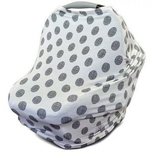 Stretchy Carseat Nursing Cover Scarf Polka Dot